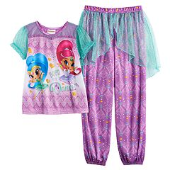 Girls 4-8 Shimmer & Shine 'Born to Dance' Top & Bottoms Pajama Set