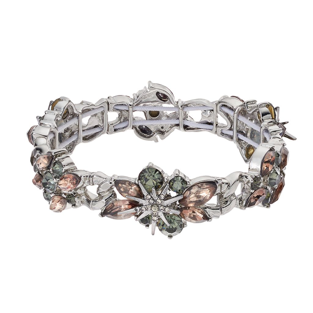 Simply Vera Vera Wang Starburst Stone Cluster Stretch Bracelet