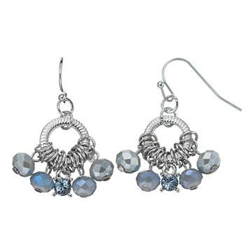 Simply Vera Vera Wang Nickel Free Blue Beaded Drop Hoop Earrings