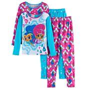 Girls 4-8 Shimmer & Shine 4 pc Tops & Bottoms Pajama Set