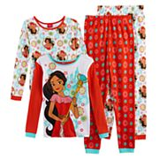 Disney's Elena of Avalor Girls 4-10 4 pc Tops & Bottoms Pajama Set