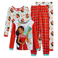 Disney's Elena of Avalor Girls 4-10 4-pc. Tops & Bottoms Pajama Set