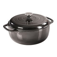 Lodge 6-qt. Enameled Cast-Iron Dutch Oven