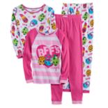 Girls 4-10 Shopkins Kooky Cookie, Handbag Harriet, Lippy Lips & Apple Blossom Tops & Bottoms Pajama Set