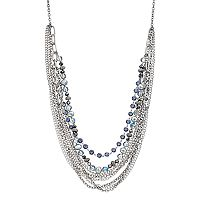 Simply Vera Vera Wang Blue Beaded Swag Necklace