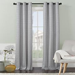 VCNY 2-pack Livingston Solid Foamback Window Curtains