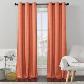 VCNY 2-pack Livingston Solid Foamback Window Curtain