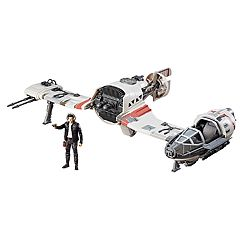 Star Wars: Episode VIII The Last Jedi Force Link-Activated Resistance Ski Speeder & Captain Poe Dameron Figure Set