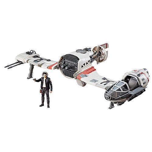 Star Wars: Episode VIII The Last Jedi Force Link-Activated Resistance Ski Speeder & Captain Poe Dameron Figure Set