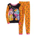 Girls 4-10 My Little Pony Rainbow Dash & Pinkie Pie Halloween Tee & Bottoms Pajama Set