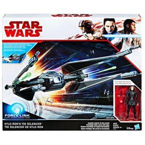 Star Wars: Episode VIII The Last Jedi Force Link-Activated Kylo Ren's TIE Silencer & Kylo Ren TIE Pilot Figure Set