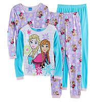 Disney's Frozen Anna & Elsa Girls 4-10 4 pc Pajama Set
