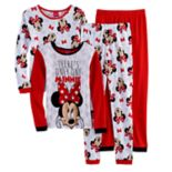 "Disney's Minnie Mouse Girls 4-10 ""There's Only One Minnie"" 4 pc Pajama Set"