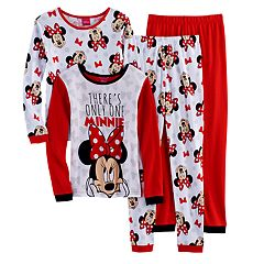Disney's Minnie Mouse Girls 4-10 'There's Only One Minnie' 4-pc. Pajama Set