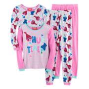 DreamWorks Trolls Poppy & Branch Girls 4-10 Tees & Bottoms Pajama Set