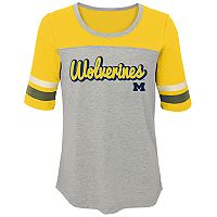 Girls 7-16 Michigan Wolverines Fan-Tastic Tee