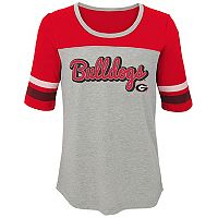 Girls 7-16 Georgia Bulldogs Fan-Tastic Tee