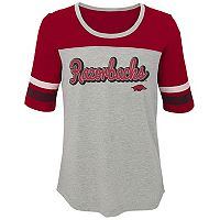 Girls 7-16 Arkansas Razorbacks Fan-Tastic Tee
