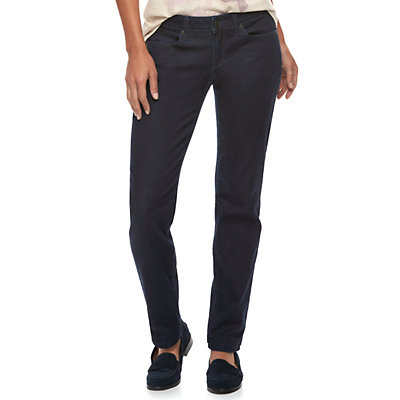 Women's SONOMA Goods for Life? Supersoft Midrise Stretch Curvy Straight-Leg Jeans