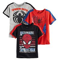 Boys 4-7 Marvel Spider-Man Graphic Tee Set