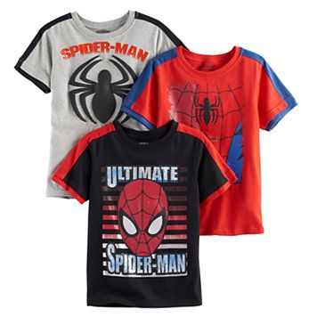 Boys 4-7 Marvel Spider-Man Graphic Tee Set