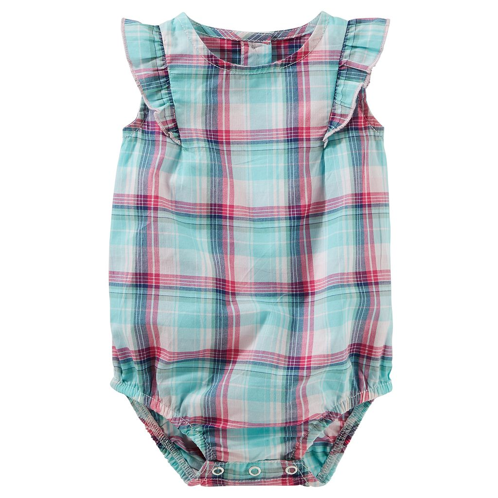 Baby Girl OshKosh B'gosh® Plaid Ruffle Bodysuit