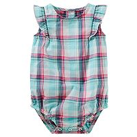 Baby Girl OshKosh B'gosh® Plaid Ruffle Bodysuit