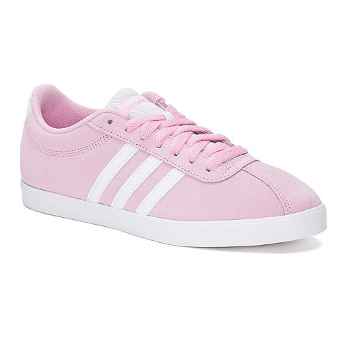Women Shoes - Adida Court Set Suede Pink/Blue/White JJBAMNNC