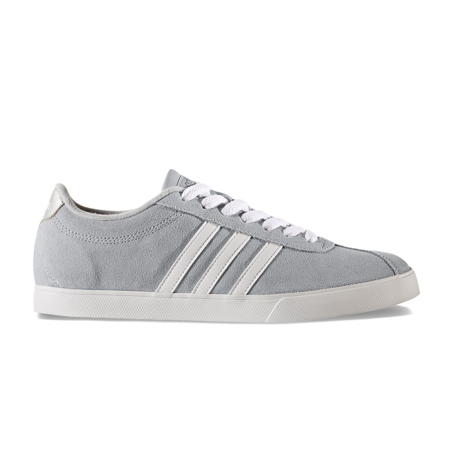 adidas NEO Courtset Women\u0027s Suede Sneakers. Gray White Chalk Olive Navy  Black Red