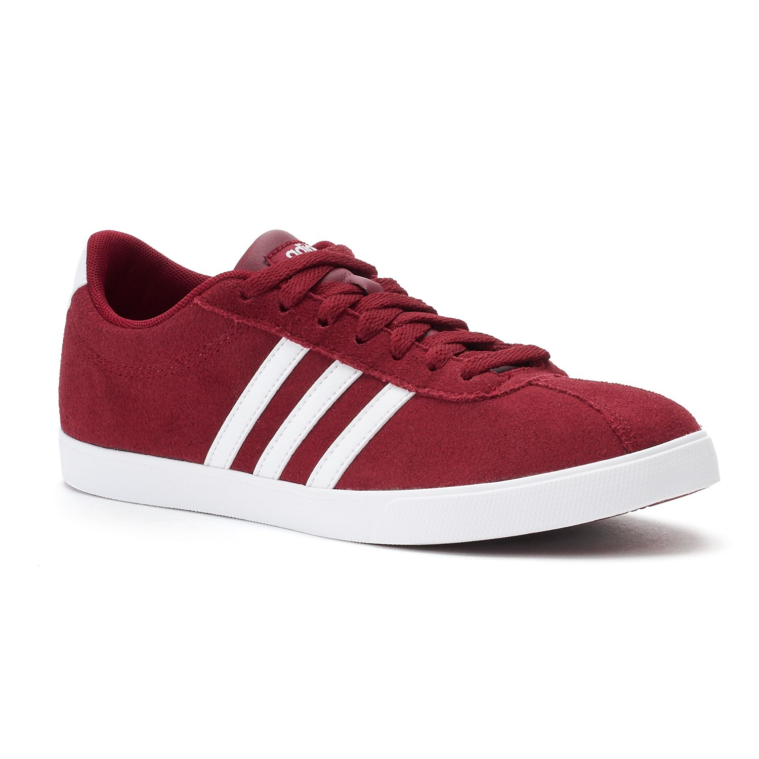 adidas Courtset Women\u0027s Suede Sneakers. Gray White Navy Red