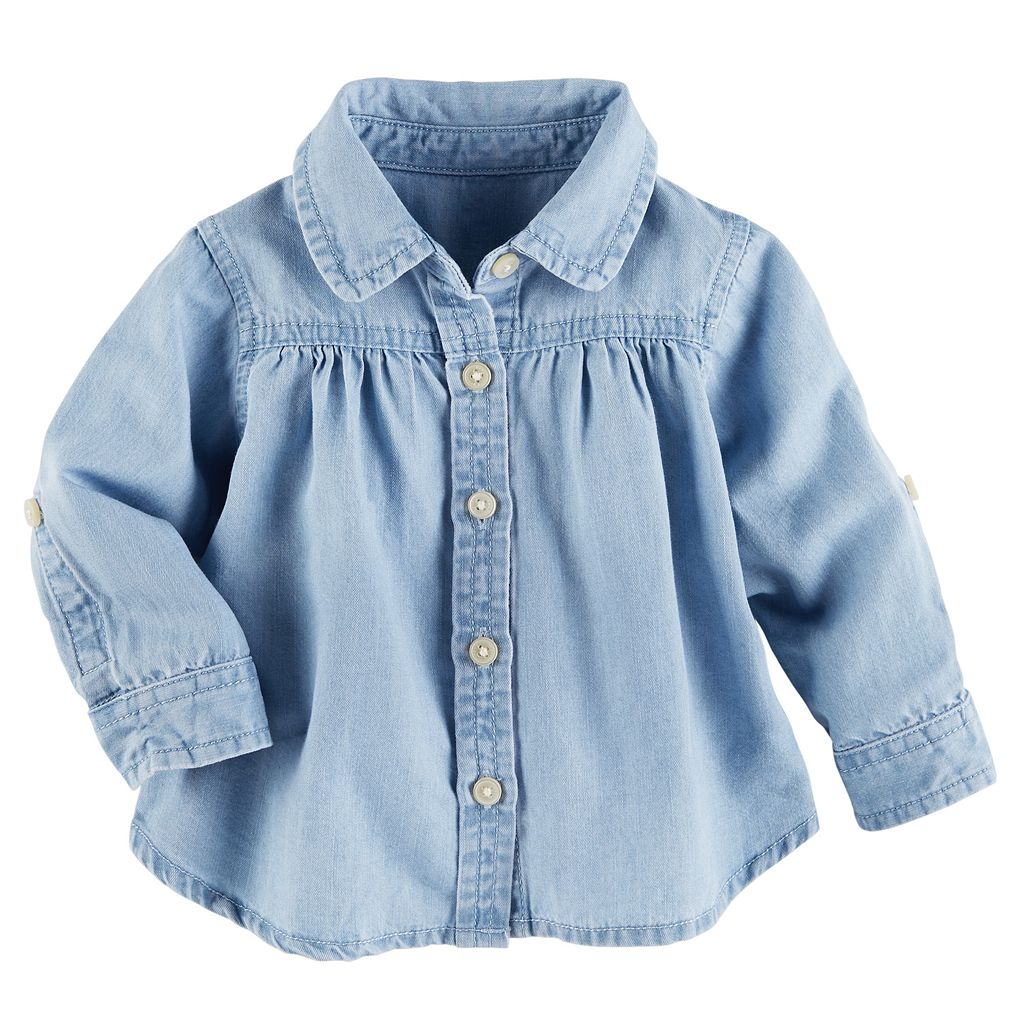 Baby Girl OshKosh B'gosh® Shirred Chambray Shirt