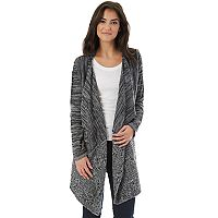 Juniors' IZ Byer California Cable-Knit Draped Cardigan