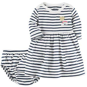 Baby Girl Carter's Striped Knit Dress