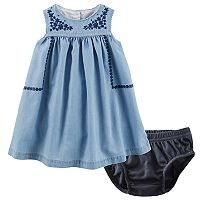 Baby Girl OshKosh B'gosh® Embroidered Chambray Dress