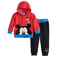 Disney's Mickey Mouse Baby Boy Pullover Hoodie & Pants Set