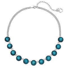 Simply Vera Vera Wang Round Blue Faceted Stone Necklace