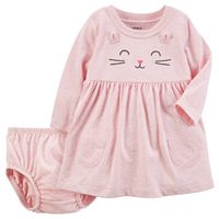 Baby Girl Carter's Pink Cat Dress