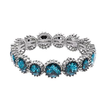 Simply Vera Vera Wang Round Blue Faceted Stone Stretch Bracelet