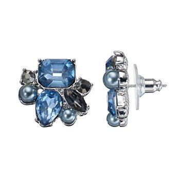 Simply Vera Vera Wang Nickel Free Blue Stone Cluster Stud Earrings
