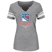 Plus Size Majestic New York Rangers Heathered Tee