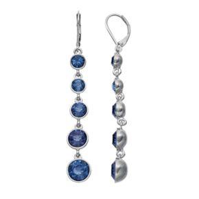 Simply Vera Vera Wang Graduated Blue Stone Linear Drop Earrings