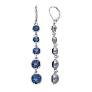Simply Vera Vera Wang Nickel Free Graduated Blue Stone Linear Drop Earrings