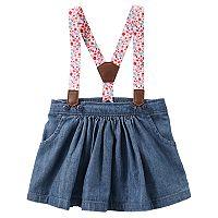 Baby Girl OshKosh B'gosh® Suspender Denim Jumper