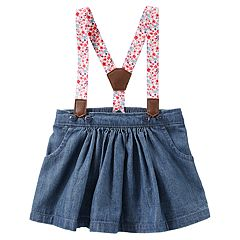 Baby Girl OshKosh B'gosh® Suspender Denim Jumper