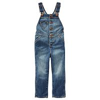 Baby Girl OshKosh B'gosh® Heart Denim Overalls