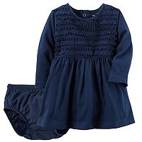 Baby Girl Carter's Ruffle Knit Dress