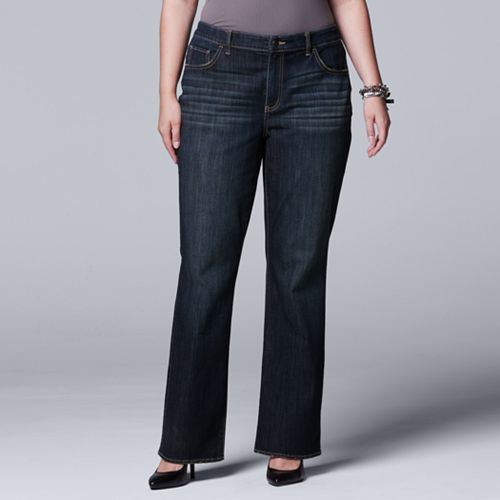 Plus Size Simply Vera Vera Wang Bootcut Jeans