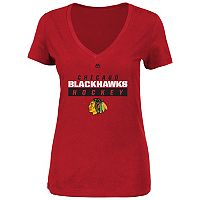 Plus Size Majestic Chicago Blackhawks Hockey Tee