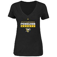 Plus Size Majestic Pittsburgh Penguins Hockey Tee