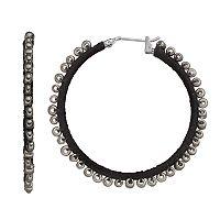 Simply Vera Vera Wang Seed Bead Thread Wrapped Nickel Free Hoop Earrings
